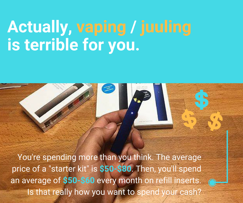 The Cost of Vaping/Juuling